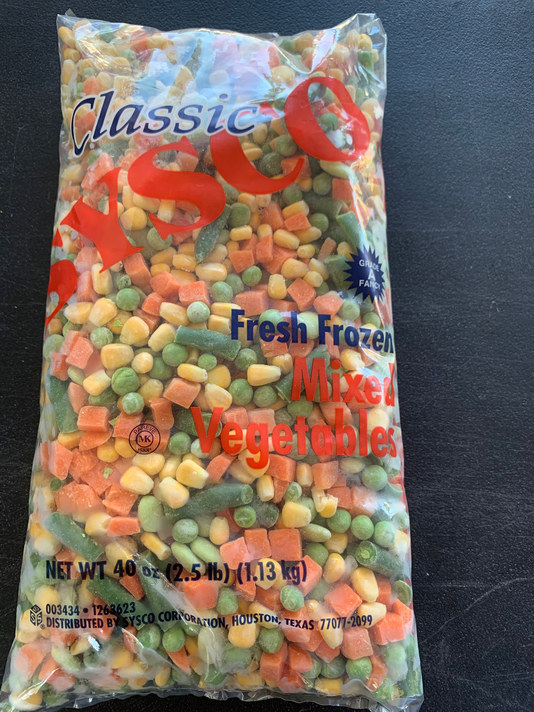 Sysco Classic - Mixed Veggies 5 Ways - 2.5 lbs. - Frozen - Groveland General