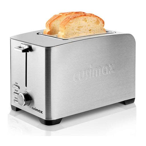 Cusimax 2-Slice Toaster 5 Shade Settings, Pop Up Extra Wide Slot Toaster, Stainless Steel, CMST-T85