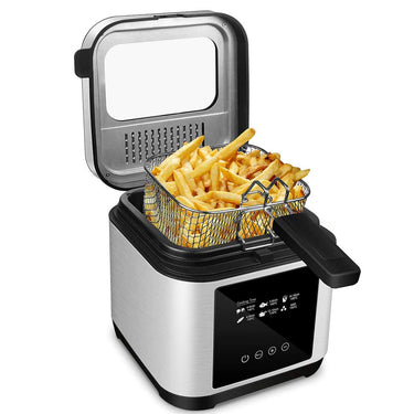 CUSIMAX 1200W Fryer 2.5L with Digital Touchscreen Temperature Control and Timer