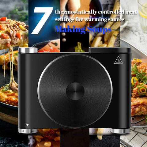 Cusimax 1500W Cast Iron Electric Single Hot Plate Portable Countertop Burner