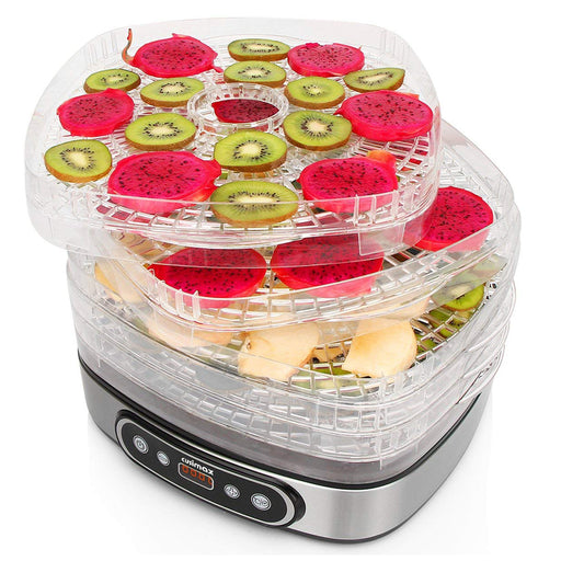 Cusimax 450W Electric Food Dehydrator BPA-Free 5 Trays Food Preserver with Adjustable Temperature Led Display Fruit Vegetable Dryer Dehydrator for Baby Pet Snacks CMFD-450D