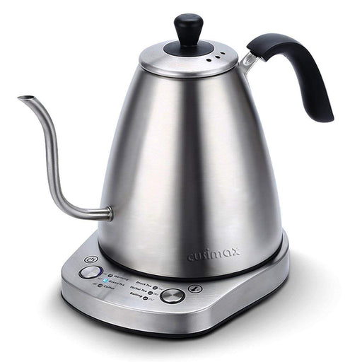 Cusimax 1L BPA-Free Gooseneck Electric Kettle Variable Temperature Keep Warm Water Stainless Steel for Drip Coffee Tea Stainless Steel CMCK-100E