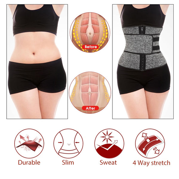 Waist Trainer Belt for Women(Neoprene Sauna, Long Lined )