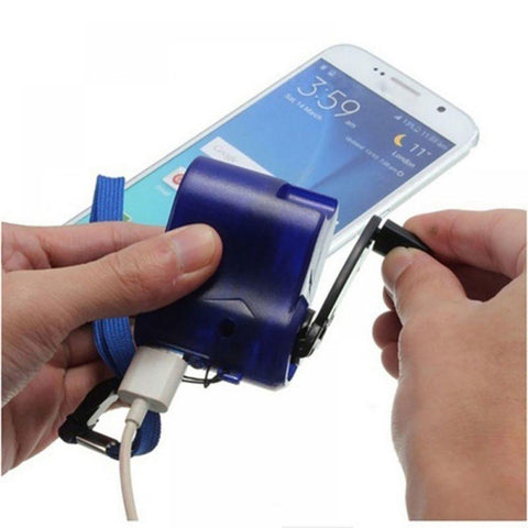 Hand Crank Travel USB Phone Charger