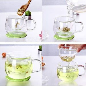 Glass Tea Infuser Mug With Filter