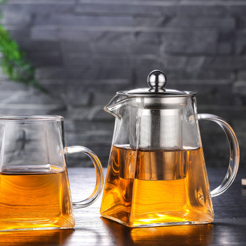 Glass Tea Pot/ Herb Strainer/ Infuser