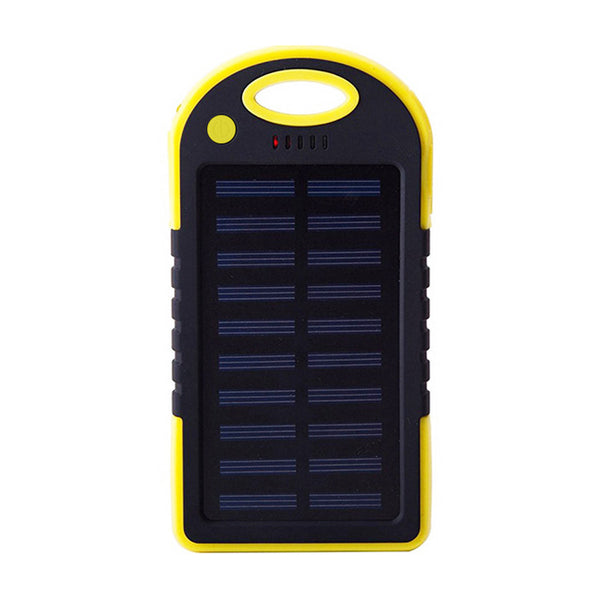 Waterproof Solar Power Bank 12000 mAh Dual USB battery charger with Outdoor Light Lamp