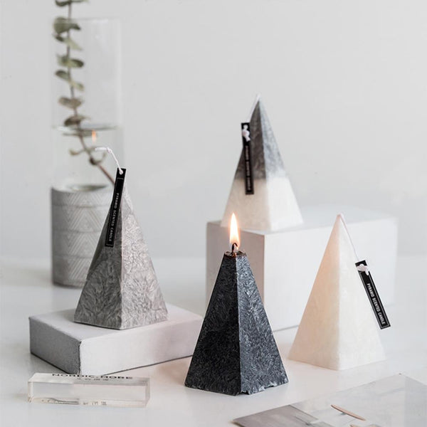 3D Marble Aromatherapy Scented Candle (Pyramid)