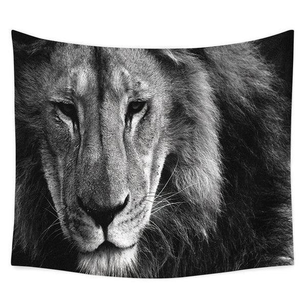 Knitted Tapestry (Lion's face)