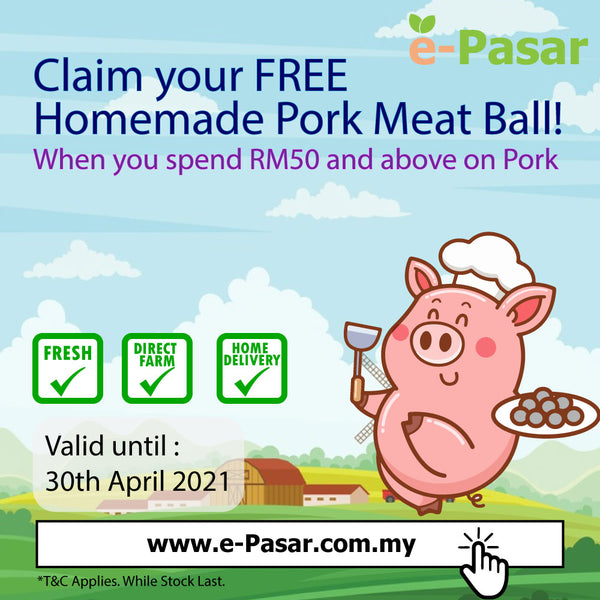 Free Homemade Pork Meat Ball - Delivery Penang