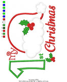 My 1st Christmas - Applique - Machine Embroidery Design