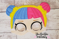 Dolls Mask - Set of 10 designs - Applique - 5x7 6x10