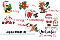 Days of the Week - Christmas - Machine Embroidery Design