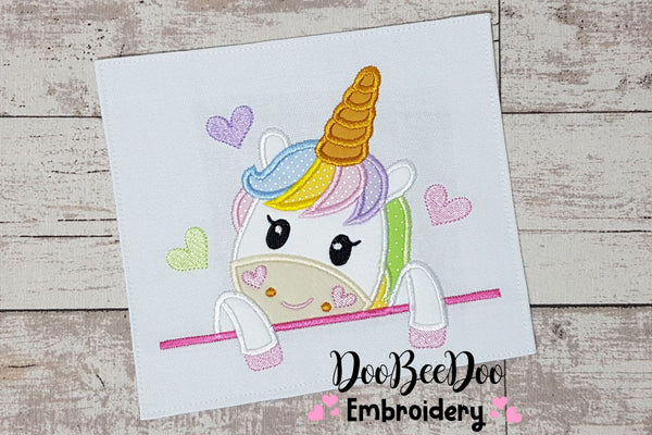 Cute Unicorn - Applique - 4x4 5x5 6x6 7x7