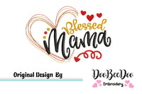 Blessed Mama - Machine Embroidery Design