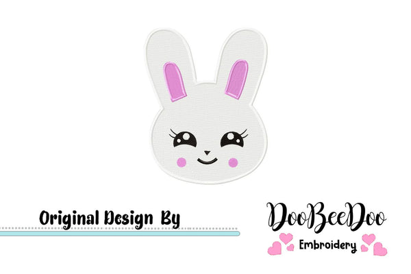Easter Bunny - Fill Stitch - Machine Embroidery Design