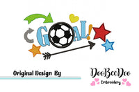 Soccer Goal - Applique Machine Embroidery Design