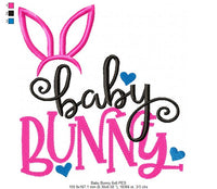 Baby Bunny - Machine Embroidery Design