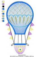 Balloon - Rippled - Machine Embroidery Design