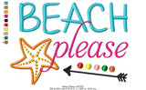 Beach Please - Fill Stitch - 4x4 5x4 5x7 5x8 6x10 7x12