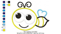 Bee - Bumble Bee - Applique - 4x4 5x5 6x6 7x7
