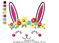 Cute Bunny  - Fill Stitch - 4x4 5x5 6x6 7x7
