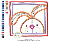 Easter Bunny  - Applique - Machine Embroidery Design