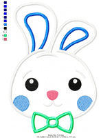Bunny Boy - Applique - 4x4 5x5 6x6 7x7