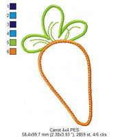 Easter Carrot - Applique - 4x4 5x7 6x10