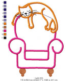 Cute Cat - Applique - 3x4 4x5 5x6