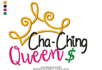 Cha-Ching Queen - Fill Stitch - 4x4 5x5 6x6 7x7