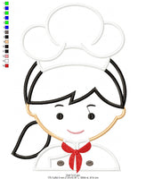 Chef - Applique - 4x4 5x7 6x10 7x12