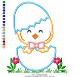Chick in an Egg - Applique - 4x4 5x5 6x6 7x7