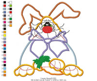 Country Easter Bunny  - Applique - Machine Embroidery Design