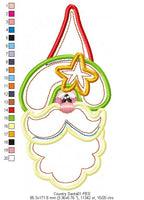 Country Santa Claus - Applique - Machine Embroidery Design