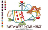 East or west Home is best - Applique - 3x4 4x5 5x6 6x7