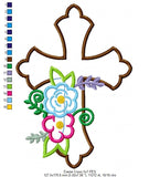Easter Cross - Applique - 4x4 5x7 6x10 7x12