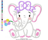 Elephant Girl and Boy - Set of 2 designs - Applique - 4x4 5x5 6x6 7x7