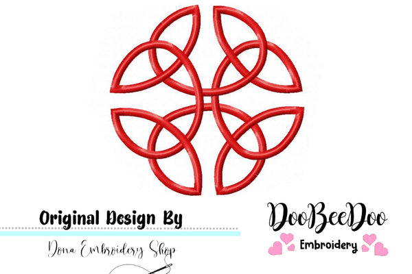Celtic Knot  - Fill Stitch - Machine Embroidery Design
