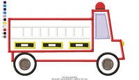 Fire Truck - Applique - 5x7 6x10 7x12