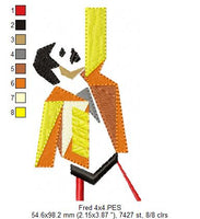 Freddie Mercury - Geek - Machine Embroidery Design