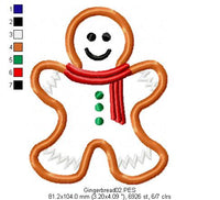 Gingerbread  - Applique - Machine Embroidery Design