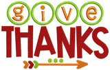 Give Thanks - Applique & Fill Stitch - 5x7 6x10