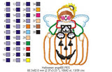 Pumpkin Angel - Applique - 3x4 4x5 5x6 6x7 7x8
