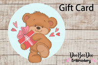 Gift Card Doobeedoo Embroidery designs