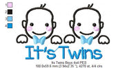 It's Twins - Boys - Fill Stitch - 4x4 5x7 6x10