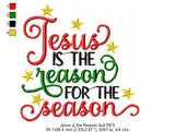 Jesus is the Reason for the Season - Christmas - Fill Stitch - 4x4 5x5 6x6