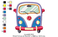 Kombi - Applique - Machine Embroidery Design