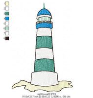 Lighthouse - Fill Stitch - Machine Embroidery Design