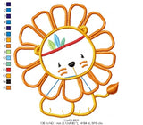 Baby Lion - Applique - Machine Embroidery Design